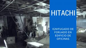 Ignifugado de forjado en edificio de oficinas en Madrid
